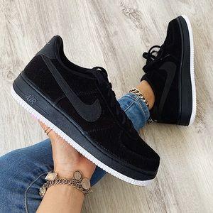 Nike corduroy air force 1 sneakers